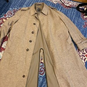Christin Dior wool trench with belt